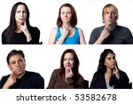 people deep in thought  with... | Shutterstock . vector #53582678
