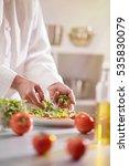kitchen preparation  the chef... | Shutterstock . vector #535830079