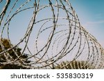 Safety Fence Of Barbed Wire...