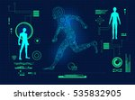 abstract technological health... | Shutterstock .eps vector #535832905