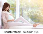 young beautiful pregnant woman... | Shutterstock . vector #535834711