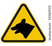 Guard Dogs Warning Sign. Vecto...
