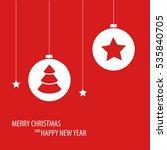 beautiful decorative red... | Shutterstock .eps vector #535840705