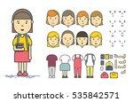 girl character creation set | Shutterstock .eps vector #535842571