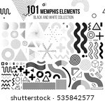 mega set of memphis design... | Shutterstock .eps vector #535842577