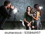 professional makeup artist... | Shutterstock . vector #535846957