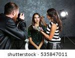 professional makeup artist... | Shutterstock . vector #535847011