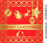 """greeting card """"merry christmas  ...   Shutterstock .eps vector #535848511"""