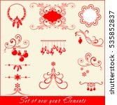 vector set  christmas decorated ... | Shutterstock .eps vector #535852837