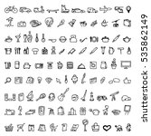 big doodle set with hand drawn... | Shutterstock .eps vector #535862149