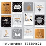 christmas illustration set | Shutterstock .eps vector #535864621