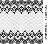 seamless lace pattern  flower... | Shutterstock .eps vector #535867651