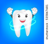 clean tooth character. dental...   Shutterstock .eps vector #535867681