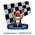 go kart winning racer | Shutterstock .eps vector #535870531