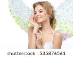 beautiful sexual blonde in a... | Shutterstock . vector #535876561