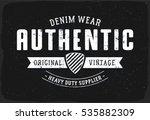 authentic denim print for t...   Shutterstock .eps vector #535882309