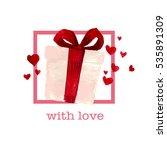 valentine day hand drawn... | Shutterstock . vector #535891309