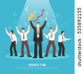 business team success flat... | Shutterstock .eps vector #535892155