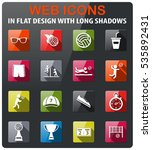 volleyball icons set in flat... | Shutterstock .eps vector #535892431