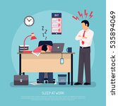angry business manager and... | Shutterstock .eps vector #535894069
