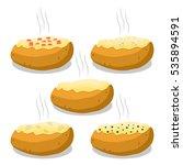 abstract vector illustration... | Shutterstock .eps vector #535894591