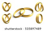 set of gold wedding rings... | Shutterstock .eps vector #535897489