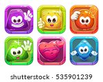 funny cartoon colorful glossy... | Shutterstock .eps vector #535901239
