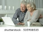 senior couple  with laptop | Shutterstock . vector #535908535