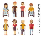 disabled persons vector flat... | Shutterstock .eps vector #535914571