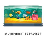 cartoon freshwater fishes in...   Shutterstock .eps vector #535914697