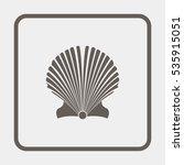 starfish icon. | Shutterstock . vector #535915051