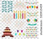 celebrate set | Shutterstock .eps vector #535915459