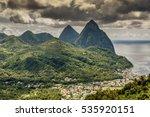 green saint lucia landscape... | Shutterstock . vector #535920151