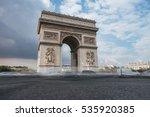 triumphal arch. paris. france.... | Shutterstock . vector #535920385