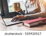 concept of working at home  | Shutterstock . vector #535920517