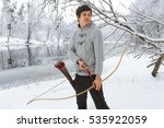 handsome young sportsman ... | Shutterstock . vector #535922059