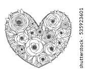 Doodle Flower Heart