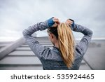 rear view shot of fit female... | Shutterstock . vector #535924465