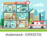 hospital  medical clinic...   Shutterstock .eps vector #535925731