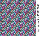 vector seamless pattern. hand... | Shutterstock .eps vector #535926841