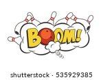 vector cartoon bowling strike...