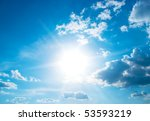 the sun sparkling behind clouds | Shutterstock . vector #53593219