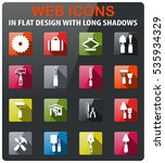 work tools icons set in flat... | Shutterstock .eps vector #535934329