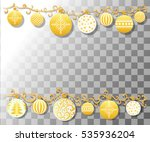 christmas background with fir... | Shutterstock .eps vector #535936204