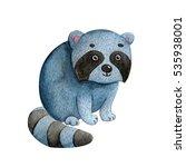 little bright watercolor... | Shutterstock . vector #535938001