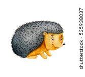 little bright watercolor... | Shutterstock . vector #535938037