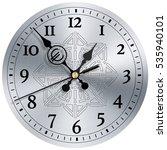 time is money modern clock face ... | Shutterstock . vector #535940101