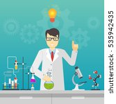 chemical laboratory science and ... | Shutterstock . vector #535942435