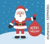 santa claus cartoon character... | Shutterstock .eps vector #535944361