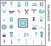 set of tailor icons. contains... | Shutterstock .eps vector #535944799